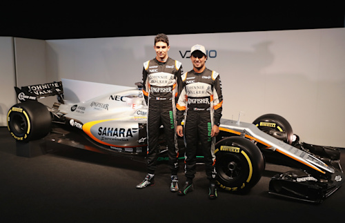 Esteban Ocon and Sergio Perez