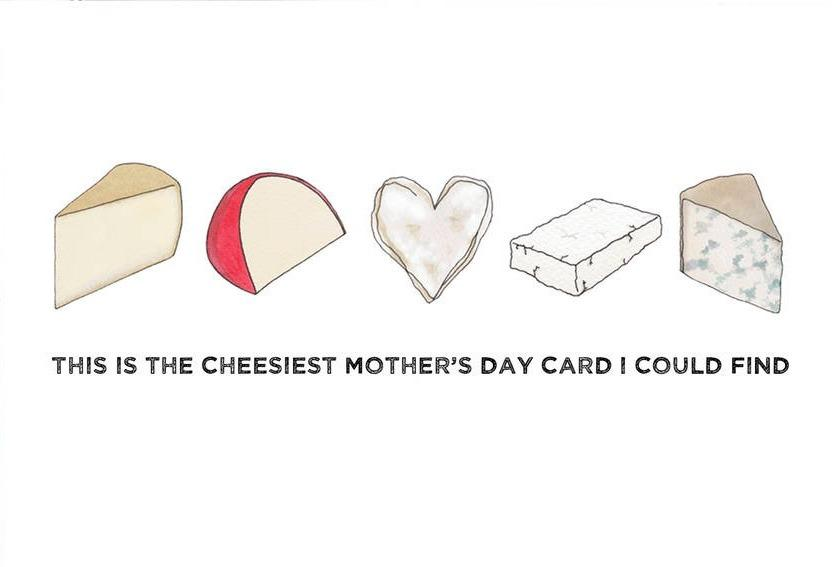 """Does your mum like things a little on the cheesy side? Well look no further, because this <a href=""""http://www.notonthehighstreet.com/beckagriffinillustration/product/cheesiest-valentine-s-card"""" target=""""_blank"""">card</a> couldn't get any cheesier."""