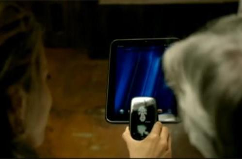 Screen Grabs: Dr. Dre video for 'I Need a Doctor' features HP Touchpad, Pre 3, weird Dr. Dre floating in a glass tube