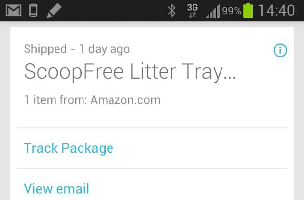Google Now update adds real-time package tracking, faster search results