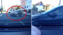 'Resit your test': Dashcam video of dramatic car crash sparks heated debate