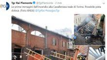 Torino: incendio alla Cavallerizza Reale