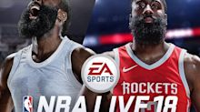 Hey, here's James Harden on the cover of 'NBA Live 18'