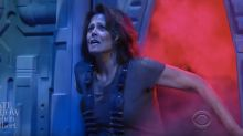 Sigourney Weaver is back as Alien's Ripley on Stephen Colbert