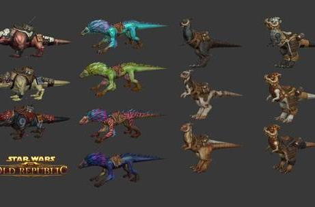 Gamescom 2013: Dewback mounts spotted in SWTOR cantina tour files