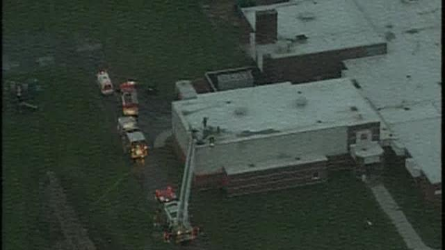 Firefighters battle fire at Cory Elementary School