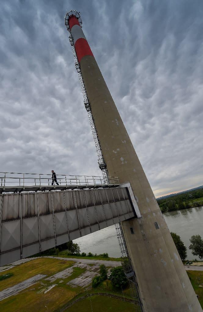 An unused nuclear power plant in Zwentendorf, west of Vienna (AFP Photo/Joe Klamar)