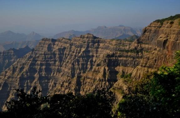 The Deccan traps, which are no longer volcanically active.