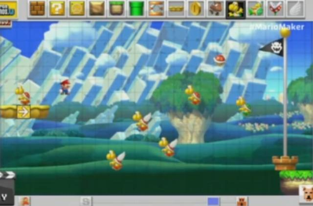 Mario Maker lets you make your own Level 1-1 on Wii U