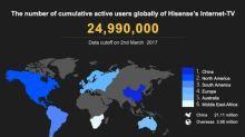 Hisense to Establish American Internet-TV Operation Center Covering 2.6 Million TV Subscribers