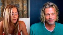 Brad Pitt y Jennifer Aniston protagonizan un reencuentro virtual con escena sexi y flirteo incluido