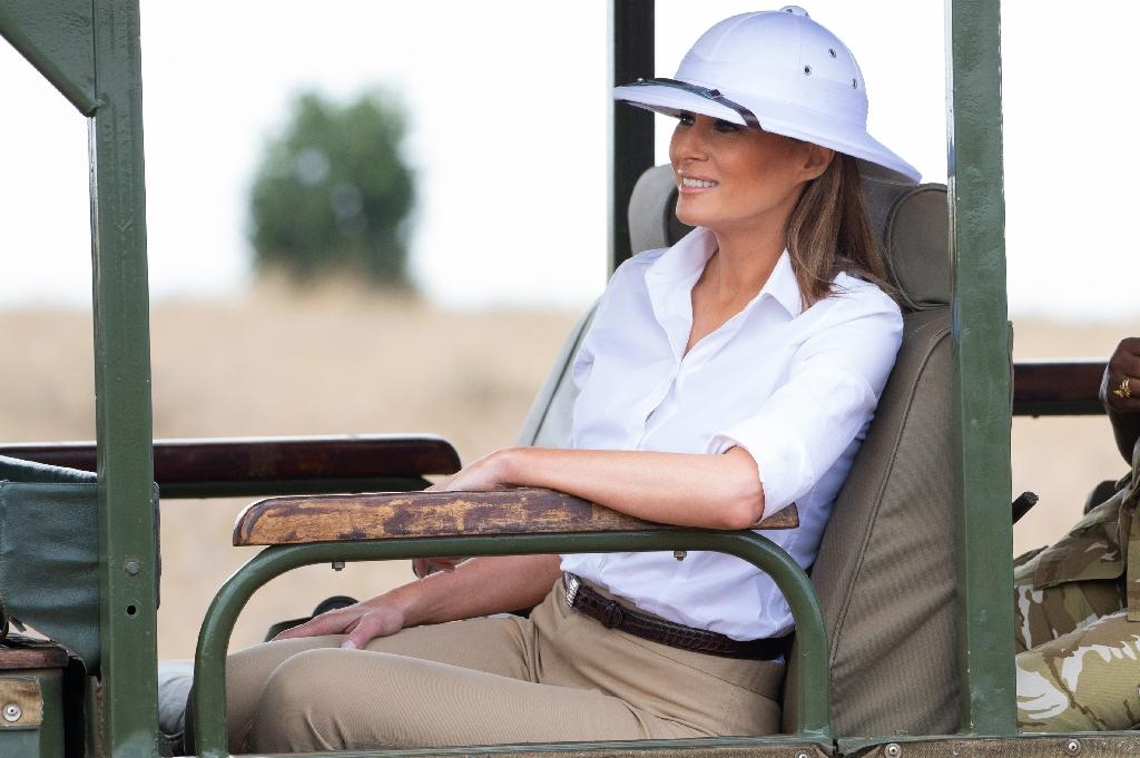 US First Lady Melania Trump's visit to Africa has included stops in Ghana and Malawi (AFP Photo/SAUL LOEB)