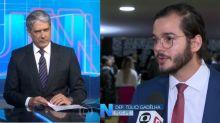 Público observa reação de Bonner após entrevista com Túlio Gadêlha no 'JN'