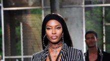 Naomi Campbell en la Semana de la Moda Masculina de París