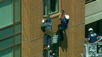 Window Washer Trapped On High-Rise