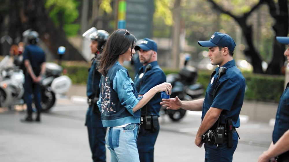 """Kendall Jenner participated in Pepsi's """"Moments"""" campaign and starred in an ad that appeared to borrow imagery from the Black Lives Matter movement. (Photo: Pepsi)"""