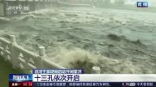 China discharges floodwater in Huai River