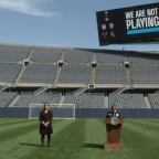 Mayor Lori Lightfoot launches We Are Not Playing initiative from empty Soldier Field