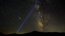 Perseid Meteor shower fills the night sky