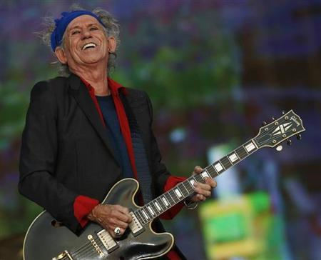 Keith Richards of the Rolling Stones performs at the British Summer Time Festival in Hyde Park in London