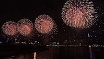 Fireworks Light Up New York City