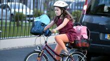 Premiers coups de pédale pour l'apprentissage du vélo à l'école