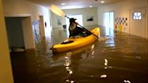 Woman Kayaks Inside Her Own House