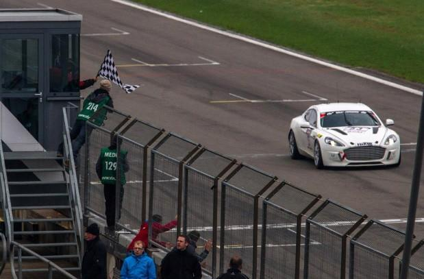 Aston Martin Hybrid Rapide S completes Nurburgring lap with much fanfare, zero emissions