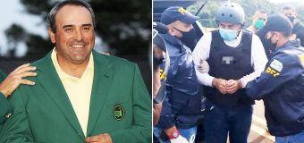 Dramatic scenes as golf icon extradited for trial