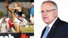 'Cowardly grubs': PM weighs in on Tayla Harris photo furore