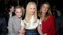 Margot Robbie, Nicole Kidman, Laura Dern, Lupita Nyong'o and More sit front row at Calvin Klein