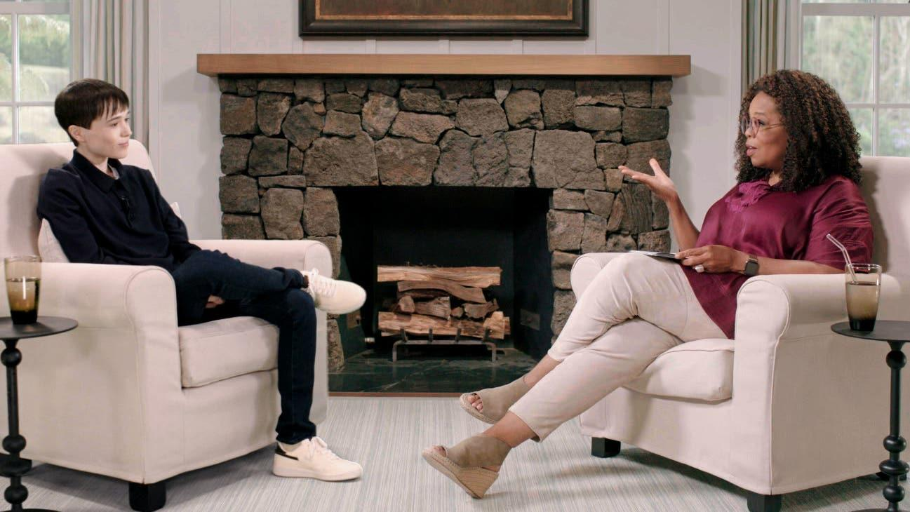Elliot Page sits down with Oprah Winfrey to discuss transition