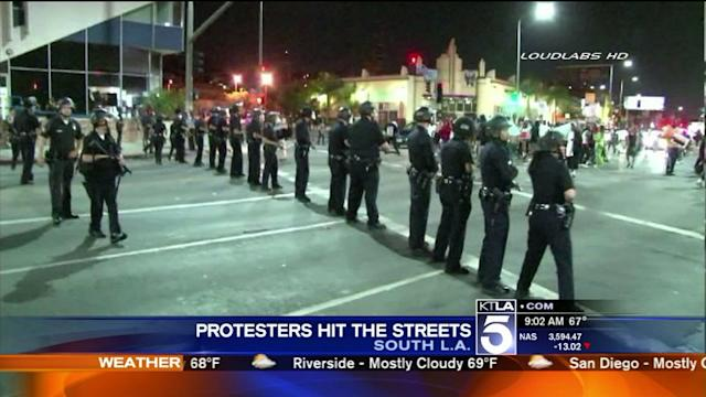 Zimmerman Verdict Protests Turn Violent in South L.A.