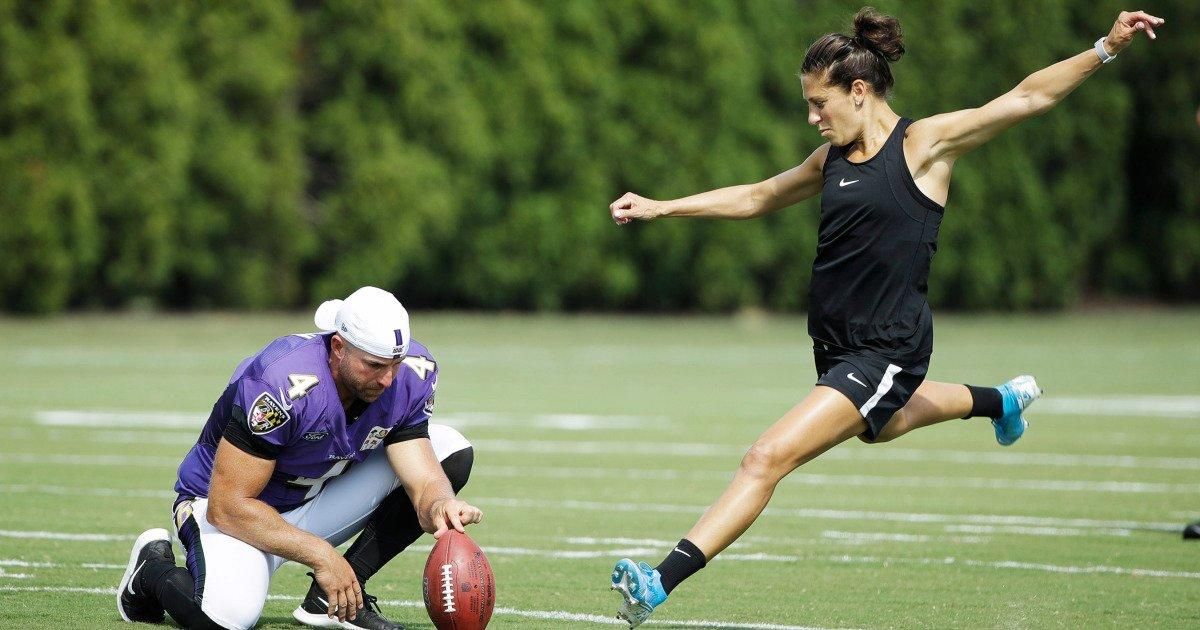 Carli Lloyd Offered Kicker Spot By Multiple Nfl Teams After Her 55 Yard Field Goal Trainer Claims If you are happy for us to do this, please enter your email above. 2