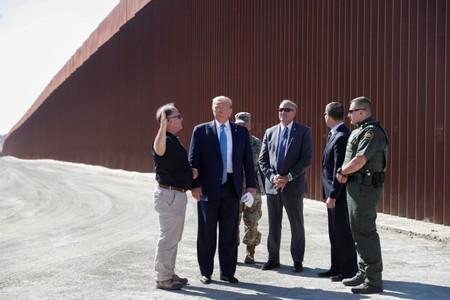 Trump likes new border wall, calls it a 'world-class security system'