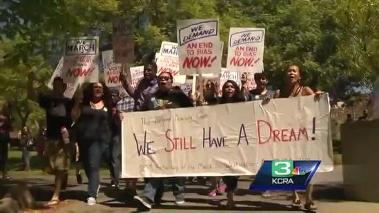 Sierra College students march to honor Dr. King's dream