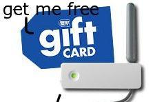 $10 gift card with purchase of wireless adapter