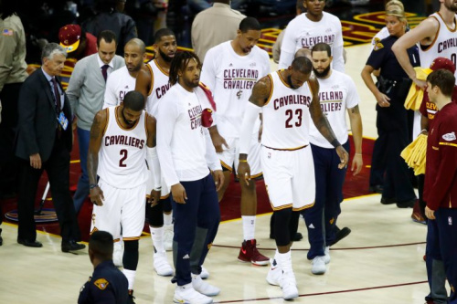 The capped-out Cavs simply don't have the talent to match the Warriors. (Getty Images)