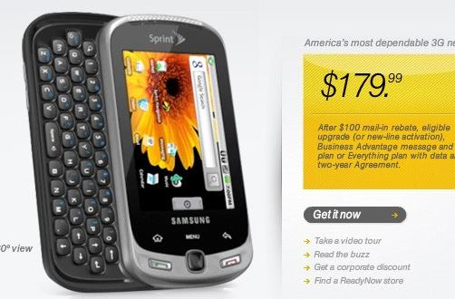 Sprint launches Samsung Moment, Android empire expands by one
