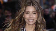 See Jessica Biel's Very Unexpected Style Combo: Skintight Leather Pants, Houndstooth Coat and Air Jordans
