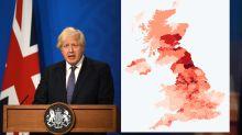The 37 COVID hotspots as Boris Johnson confirms 'freedom day' will go ahead