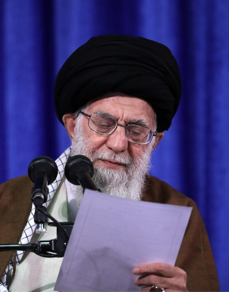 Iran's supreme leader Ayatollah Ali Khamenei said Iran too would quit the nuclear deal unless Europeans offered solid guarantees that trade relations would continue (AFP Photo/HO)