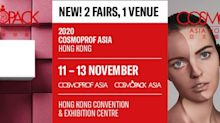 Cosmopack and Cosmoprof Asia 2020 Will Be Held under One Roof