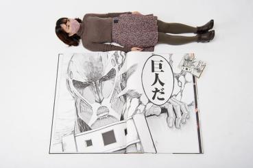 巨人化的「進擊的巨人」漫畫,限量 100 本 一本要價台幣 41 萬