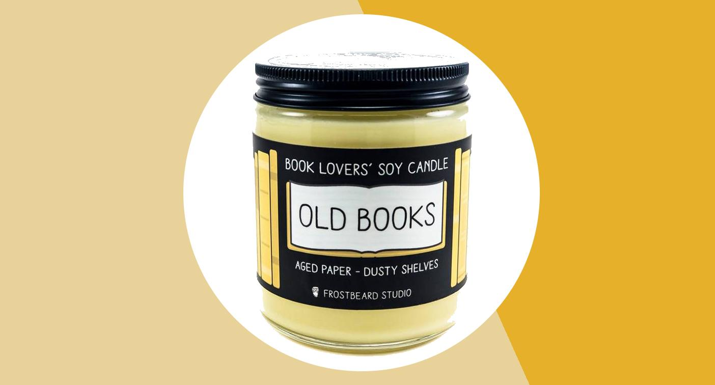 Love the smell of old books? This candle is for you