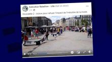 Lille: Extinction Rebellion déploie 170 m de vêtements pour dénoncer la Fast Fashion
