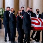Justice Ginsburg Lies in Repose at the Supreme Court