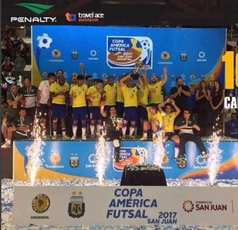 Brasil conquista décimo título da Copa América de Futsal