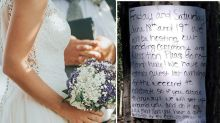 Bride hits back after outrage at 'passive aggressive' note to campers