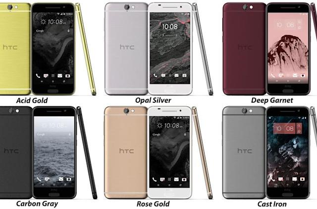 HTC 'Aero' leak shows iPhone-like colors, mid-range power